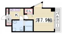シャルマンパレ神戸花隈[1階]の間取り