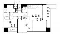 兵庫県神戸市灘区灘北通10丁目の賃貸マンションの間取り