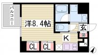 アスヴェル神戸駅前[3階]の間取り