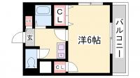 中央マンション[4階]の間取り