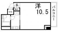 ライオンズマンション神戸西元町[505号室]の間取り