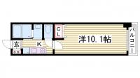 レジディア三宮東[3階]の間取り