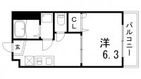 エスタール兵庫[202号室]の間取り