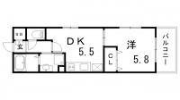 サムティ三宮レガニール[5階]の間取り