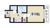 ロイヤルヒル神戸三宮Ⅱ[505号室]の間取り