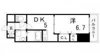 プレジール三宮Ⅱ[3階]の間取り