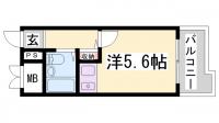 アルテハイム神戸・県庁前[705号室]の間取り