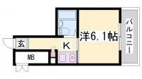 アルテハイム神戸・県庁前[6階]の間取り