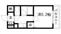 シャトラン新神戸[403号室]の間取り