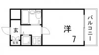 ペイサージュSANKO[1103号室]の間取り