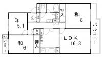 鈴蘭泉台第1住宅2号棟[4階]の間取り