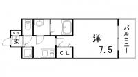 アドバンス三宮グルーブ[5階]の間取り
