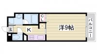 アーバネックス新神戸[6階]の間取り