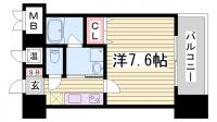 アドバンス神戸アルティス[5階]の間取り