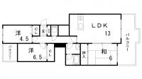 シティハイツ諏訪山[303号室]の間取り