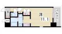 エスライズ新神戸[1203号室]の間取り
