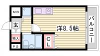 グランデール新神戸[305号室]の間取り
