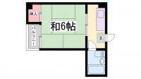 第2嵯峨マンション[402号室]の間取り