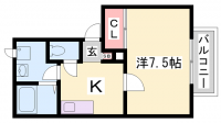 中山手ガーデンハウスC棟[201号室]の間取り