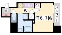 アドバンス神戸アルティス[1401号室]の間取り