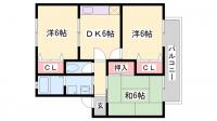 ソフィア清水B〜D棟[C202号室]の間取り