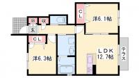 グランコンフォール[1階]の間取り