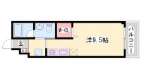 TOAST AKASHI[3階]の間取り