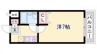 ピアハウス[3階]の間取り