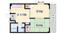 タウニ—SA[203号室]の間取り