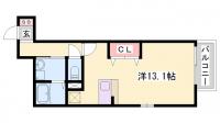 WITH ROSE AKASHI[2-D号室]の間取り