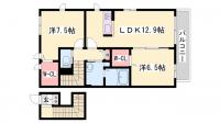 シャーメゾン江井島海岸[A201号室]の間取り