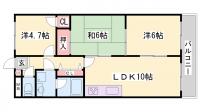 サンフラワー貴崎[205号室]の間取り