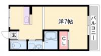 マンション朝霧1号館[502号室]の間取り