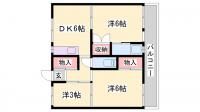 ビレッジハウス東二見[4-102号室]の間取り