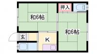 豊永荘[5号室]の間取り