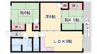 協栄王塚台マンション[204号室]の間取り