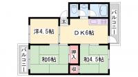厚生年金住宅[A307号室]の間取り