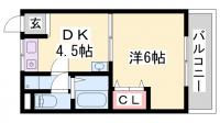 三喜ハイツ[203号室]の間取り
