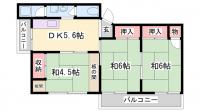富士マンション[402号室]の間取り