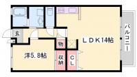 プランドールMITANI[1階]の間取り