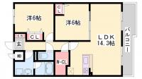サンヴィラ24[2階]の間取り