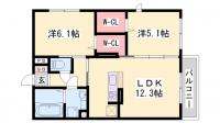 仮)大久保町八木D-room[1階]の間取り