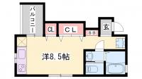リープラス藤江[1C号室]の間取り
