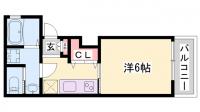 リープラス藤江[1B号室]の間取り
