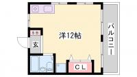 サンコーポ明石Ⅰ[102号室]の間取り