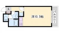 パールブリッジハウス[302号室]の間取り