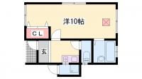 メゾン岡田[1F号室]の間取り