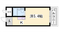 ビレッジハウス小坂[3-204号室]の間取り