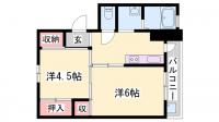 ビレッジハウス粟生[4-208号室]の間取り