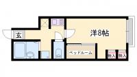 アート前川[2-A号室]の間取り